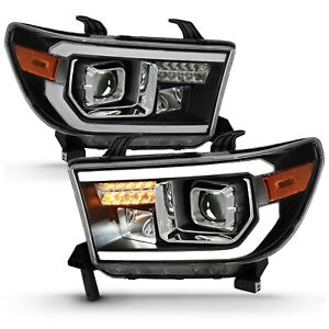 Anzo 111447 Projector Light Bar H.L Black Amber For 2007-2014 Toyota Tundra