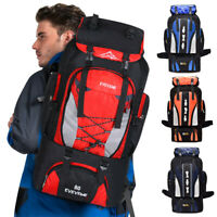 80L Outdoor Travel Hiking Camping Backpack Waterproof Rucksack Trekking Pack