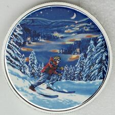 2017 $15 – Great Canadian Outdoors: Night Skiing, Pure Silver Glow-in-the-Dark