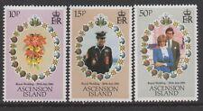 Ascension Island Sc# 294-96 Diana & Charles Royal Wedding 1981, MNH VF