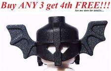 ☀️NEW Lego Boy/Girl Minifig Hat Black Bat Wings Battle Castle Knight Helmet
