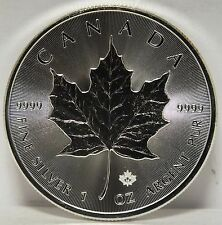 Canada 2016 Coin $5 Maple Leaf .9999 Fine Silver - 1 oz Troy bullion - JR319