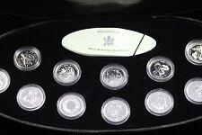 **2000** RCM, Millennium Set of Canada Silver $.25 Cent 12pc Set.