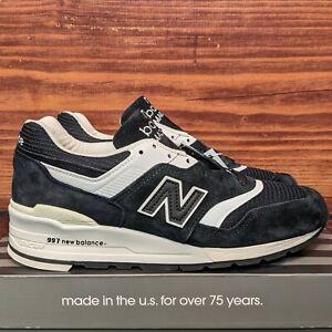 New Balance 997 Made in the USA Men's 7 Women's 8.5 Black White shoes (M997BBK)