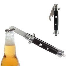 NOVELTY METAL FLICK KNIFE BOTTLE OPENER SWITCH BLADE SECRET SANTA  ADULT GIFT