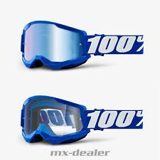 100 % Prozent Brille Strata2 Blue Motocross Enduro Downhill MTB DH Cross