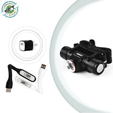 Nebo Transcend Rechargeable Headlamp Flashlight & USB adapter & LED Light Lamps