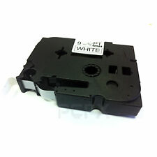 Brother Compatible TZ221 P-Touch 9mm Gloss Black on White Tape TZ-221 P Touch