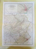Vintage Map,PENNSYLVANIA,EAST,15,Century Atlas,1902
