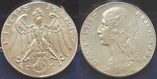 probeprägung WEIMAR 3 MARCO 1925 motivpr. en plata, O. mzz Cabaña CASTAÑO vz-st