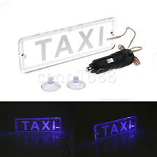 Blue LED Taxi Light Modified Car Light No Conversion Needed & Cigarette Lighter