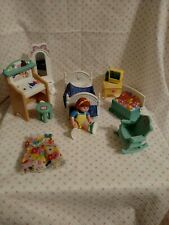 Fisher Price Loving Family dollhouse 1999 jumpin bed bedroom set doll extras