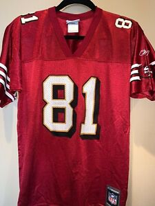 Terrell Owens 49ers Reebok authentic Replica #81 jersey youth LG