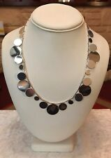 """Accessorize Silver Tone 18"""" Circles Statement Necklace BNWOT (A406)"""