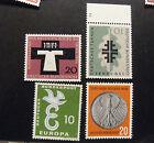 "GERMANIA ,GERMANY ,BUND 1958-59 "" Lotto di 4 Valori "" 3 set completi MNH**"