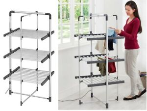 JUMBO ELECTRIC 36 RAILS DRYER FOLDING CLOTHES AIRER HEATED DELUXE PORTABLE