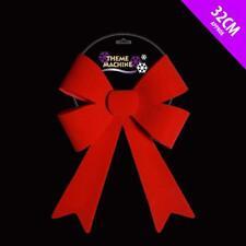 32cm Large Red Velour Bow Decoration - Christmas Tree Decoration (DP233)