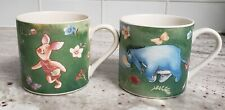 Disney Simply Pooh Eeyore and Piglet 10oz Coffee Mugs Collectible Cups