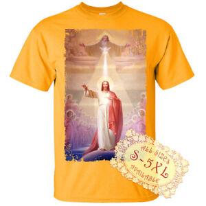 Holy Trinity V11 Jesus God Son Holy Spirit Print DTG T SHIRT All sizes S-5XL