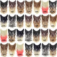 Wavy Curly Ombre Hidden Halo Invisible Wire Clip Hair Extension Secret Hairpiece