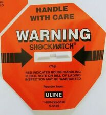 Orange ULine ShockWatch Warning Label- S-5159 (75g) Handle With Car