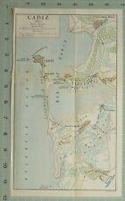 MAP/BATTLE PLAN CADIZ 1810 FORT SANTA CATALINA SAN JOSE FRENCH CAMP CHICLANA