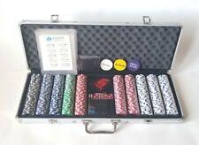 500pcs poker chips set complete with aluminum case