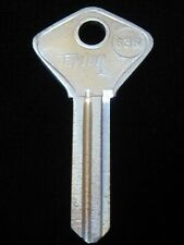 61G ALFA ROMEO In-Dash Ignition Key Blank Early 60's, FIAT Door Trunk 1957-1966