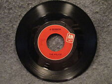 """45 RPM 7"""" Record The Police Dont Stand So Close To Me & A Sermon A & M 02301"""