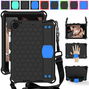 For iPad 6th Gen 9.7 2018 /5th 2017 Case Shockproof Strap Hybrid EVA Stand Cover