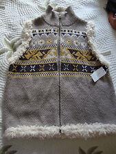 New Womens Rachel Roy Truth Trek Mushroom Knit Vest Size Large