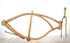"1966 Schwinn Tiger Bicycle * FRAME & FORK * Coppertone Men's 26"" Tire Bike Part"