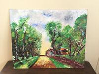 tableau ancien huile sur panneau INCONNU (XXe-s) paysage