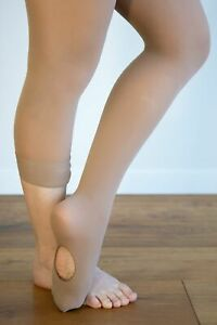 Dance Tights TAN / SKIN TONE CONVERTIBLE For Jazz & Tap Tod to XL Adult ON SALE!