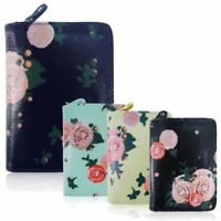 New Womens Short Purse Girls Blossom Print Wallet Ladies Oilcloth Coin Purse