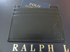 Ralph lauren business credit card cases for men ebay polo ralph lauren black leather card case id reheart Gallery