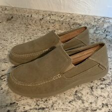 CROCS MENS Santa Cruz Slip On tan khaki Loafers mens Size 8
