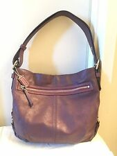 Coach F19407 Plum Perforated Leather Duffle Bag MSRP $398