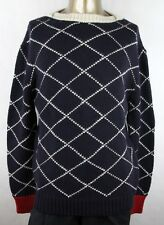 $1080 Gucci Men's Blue Wool Graphic Knit Crew-neck Sweater 2XL 407614 4187
