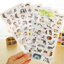 6 pcs/lot cat PVC paper sticker diy planner decor sticker scrapbooking diary ca