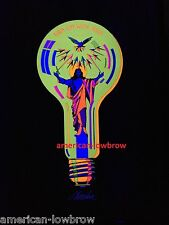 Turn On With Jesus Lightbulb Psychedelic Art Blacklight Poster Woodstock