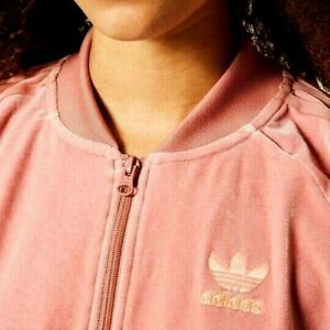 SMALL adidas Originals  Women's  VELVET VIBES SST  TRACK JACKET  RAWPINK  LAST1