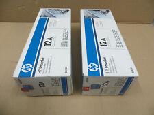 2 stk. HP tóner LaserJet 12a-q2612a-negro