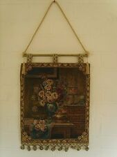 Floral Tapiz colgante de pared mide 13 X 18 Pulgadas; 33 X 45 Cm (borla de poste) v3