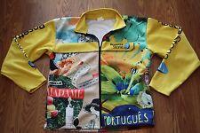 Rosetta Stone Men's Jacket Sz Large Travel Language Cycling Landmarks Spanish