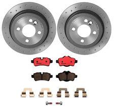 Brembo Rear Brake Kit Ceramic Pads Drilled Disc Rotors For Mini R55 R56 R58 R59
