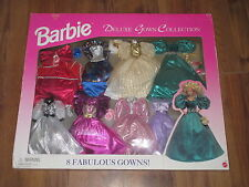 1995 Mattel Barbie Deluxe Gown Collection 8 Fabulous Gowns Mattel Never Opened