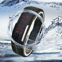 Fashion Ultra Thin Men Women Sports Silicone Digital LED Sports Wrist Watch CA