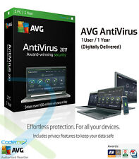 AVG AntiVirus 2017 - 1 Computer / 1 Year Protection | Digitally Delivered