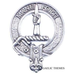 Clan Crest Cap Badge MacKay - Made in Scotland